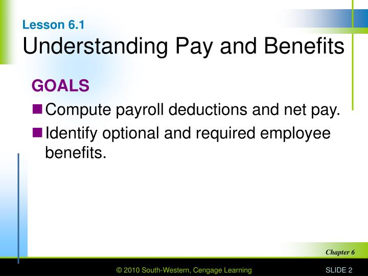 Lesson 6 1 understanding pay and benefits
