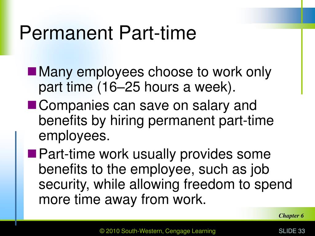 Permanent Part-time