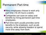 permanent part time