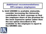 additional recommendations off campus employees45