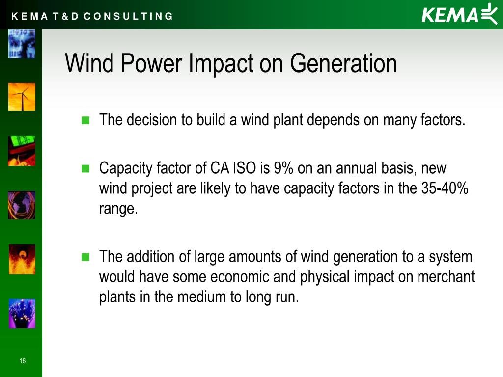 Wind Power Impact on Generation