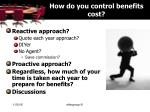 how do you control benefits cost