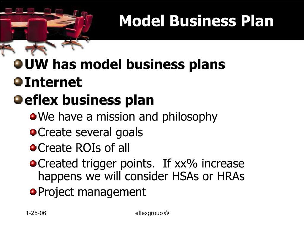 Model Business Plan