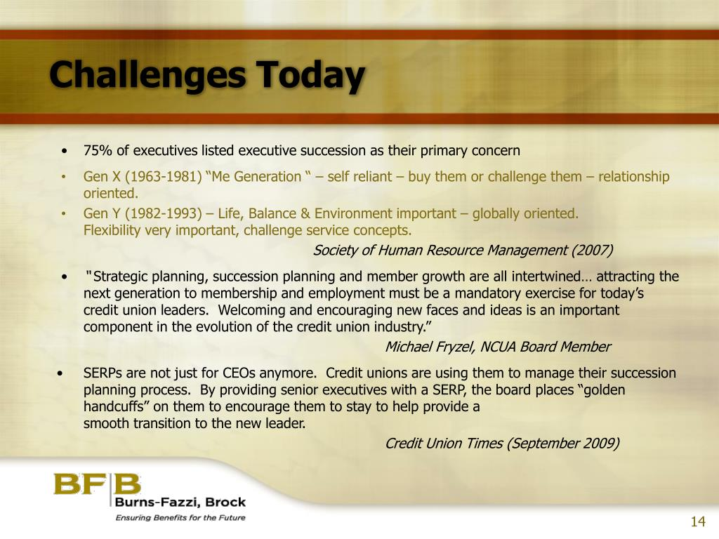 Challenges Today