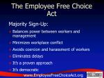 the employee free choice act