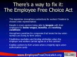 there s a way to fix it the employee free choice act