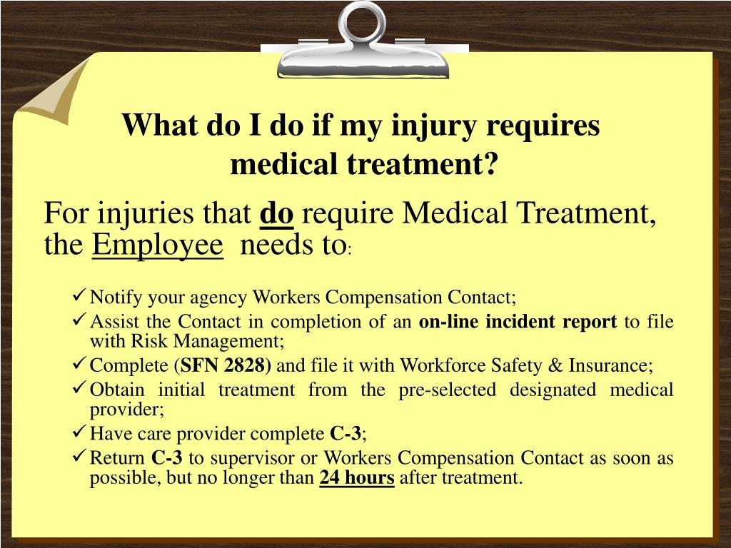 What do I do if my injury requires