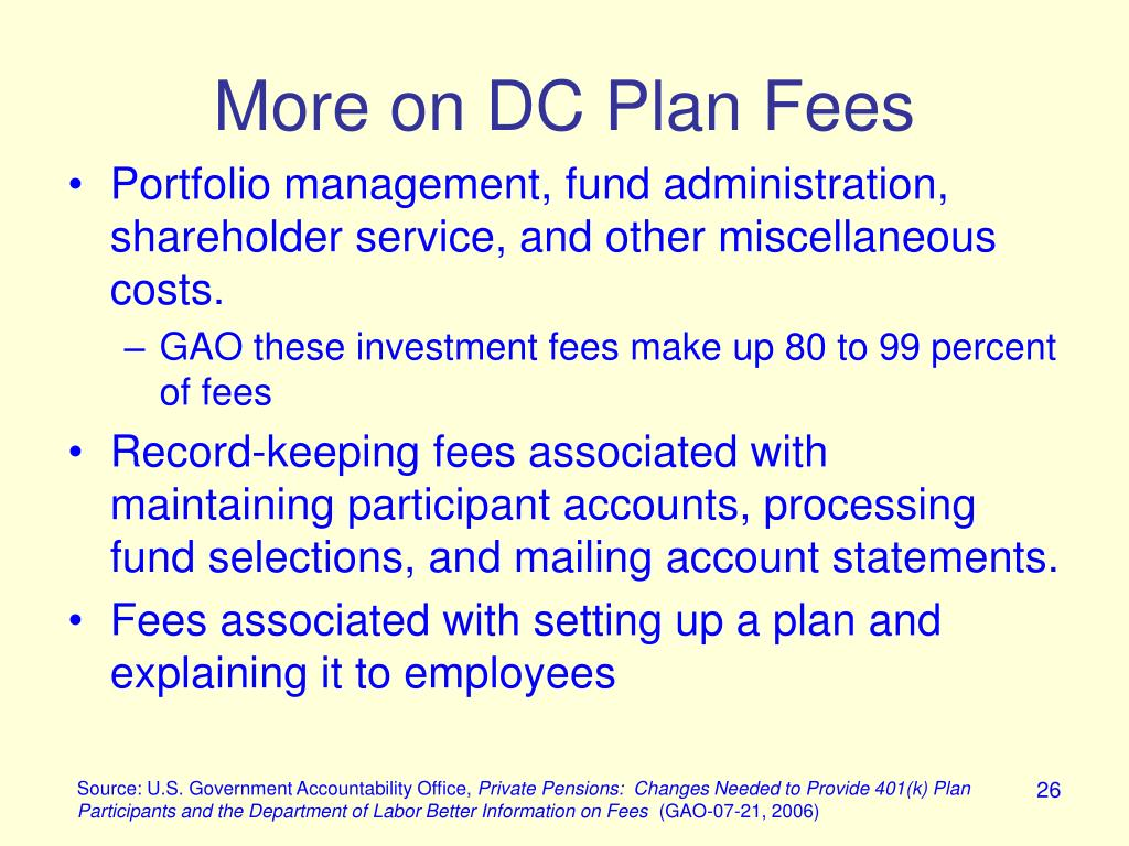 More on DC Plan Fees