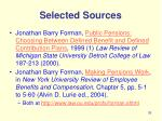 selected sources