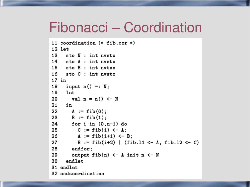 Fibonacci – Coordination