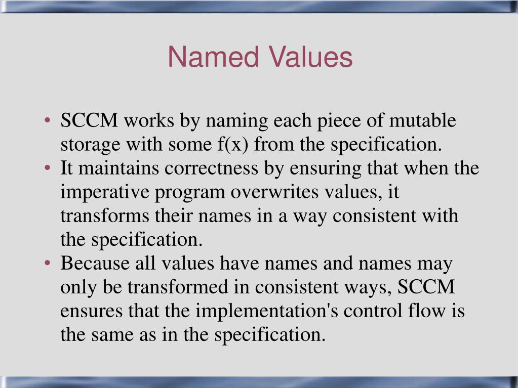 Named Values