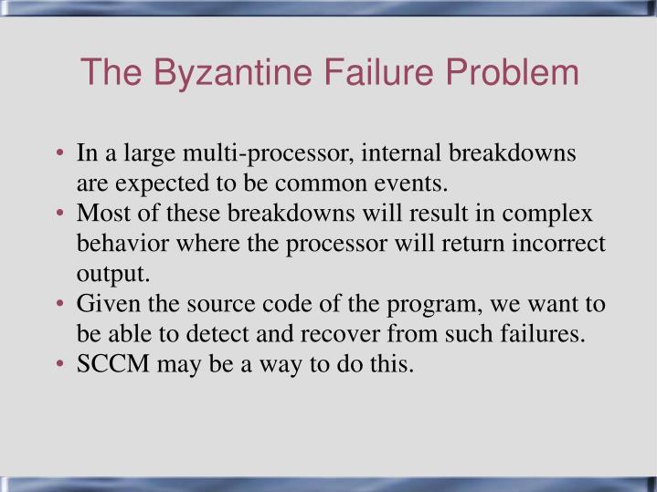 The byzantine failure problem