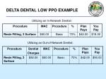 delta dental low ppo example
