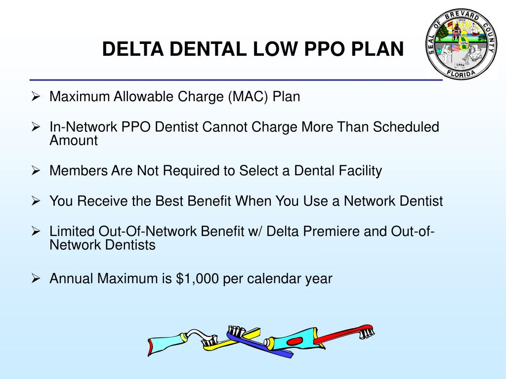 DELTA DENTAL LOW PPO PLAN