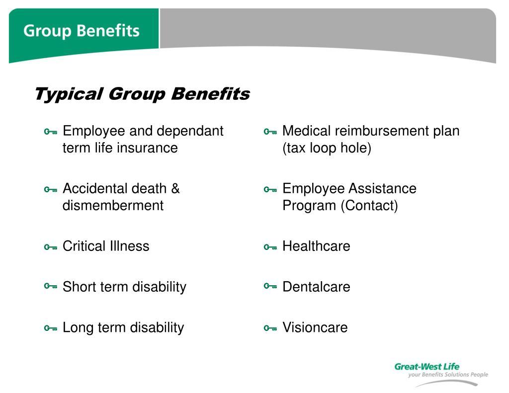 Employee and dependant term life insurance