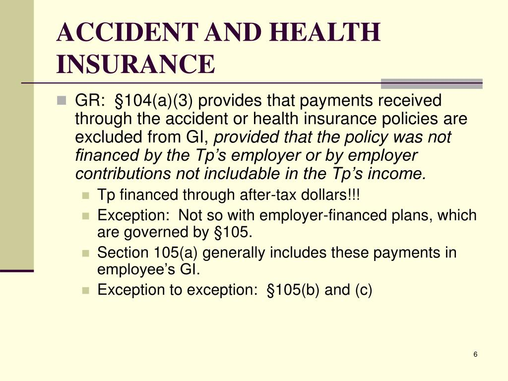 ACCIDENT AND HEALTH INSURANCE