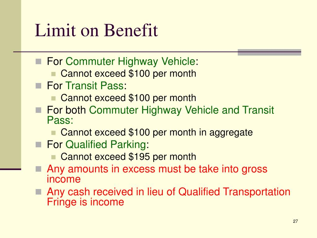 Limit on Benefit