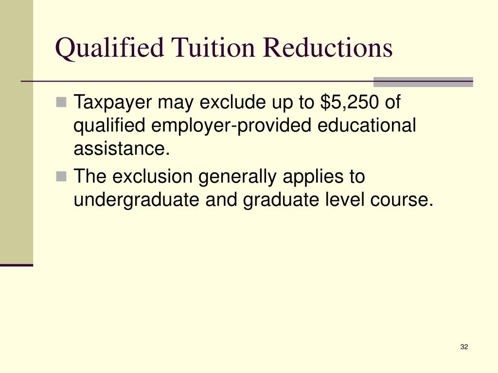 Qualified Tuition Reductions
