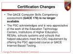 certification changes6