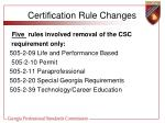 certification rule changes7