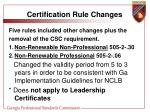 certification rule changes8