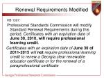 renewal requirements modified