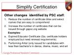 simplify certification33