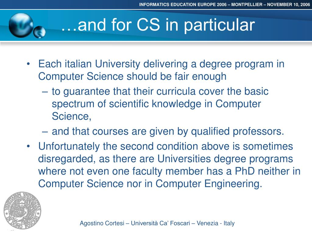 …and for CS in particular
