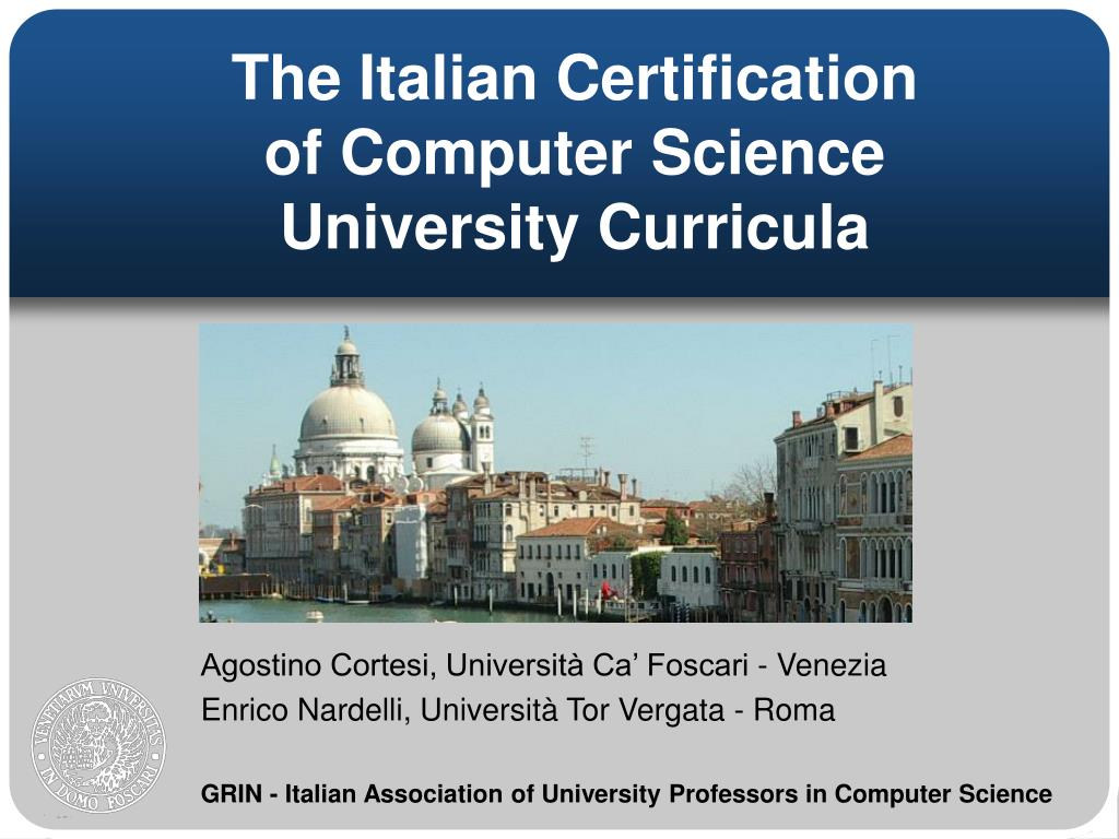 the italian certification of computer science university curricula l.