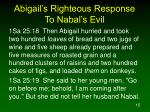 abigail s righteous response to nabal s evil15