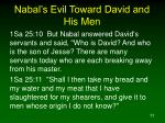 nabal s evil toward david and his men11