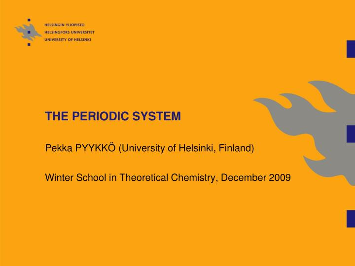 the periodic system n.