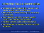 computer tools certification