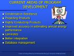 current areas of program development
