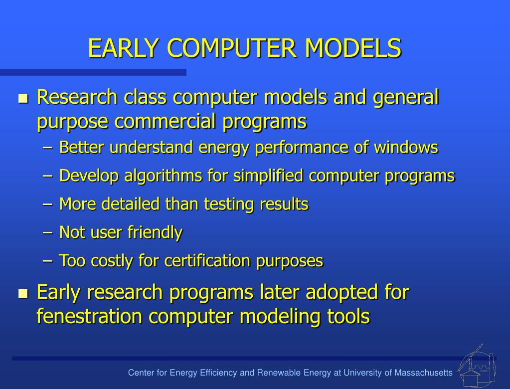 EARLY COMPUTER MODELS