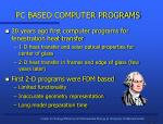 pc based computer programs