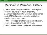 medicaid in vermont history9