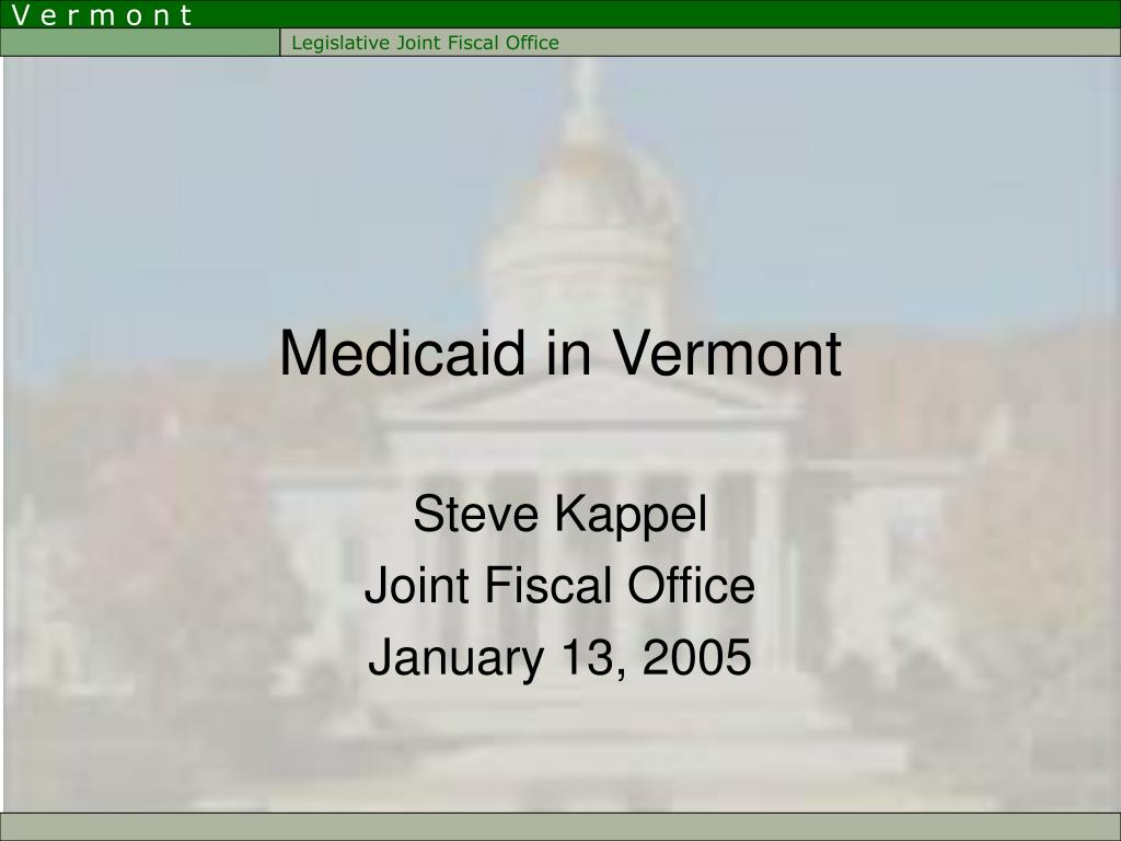medicaid in vermont l.