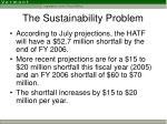 the sustainability problem