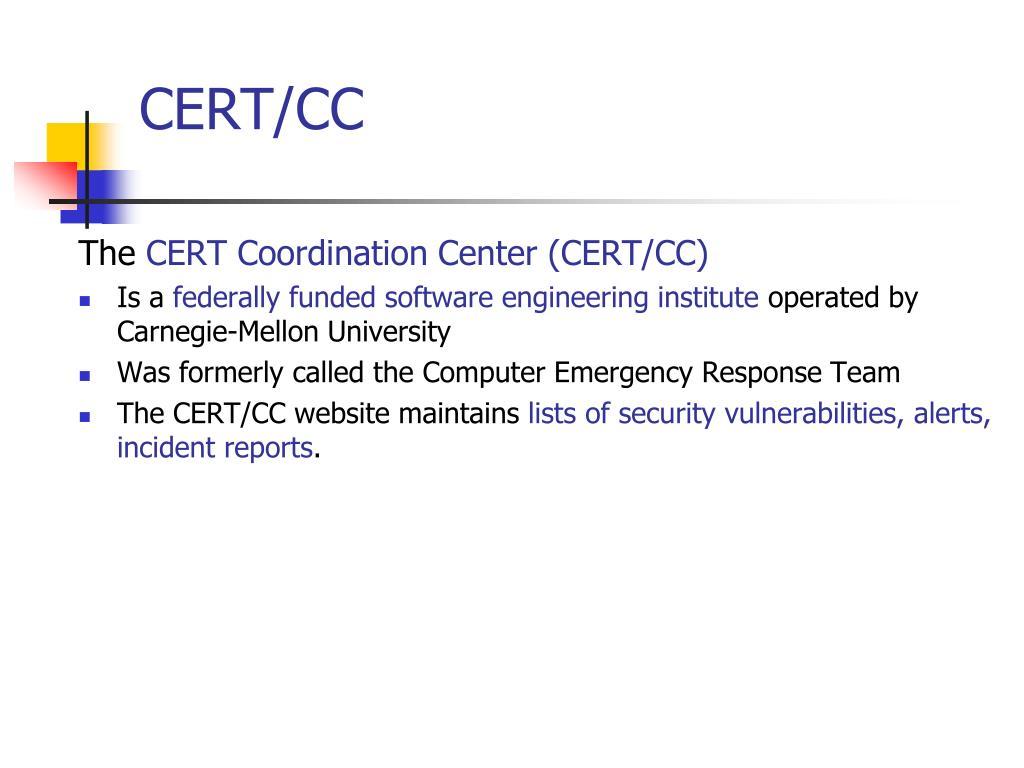 CERT/CC