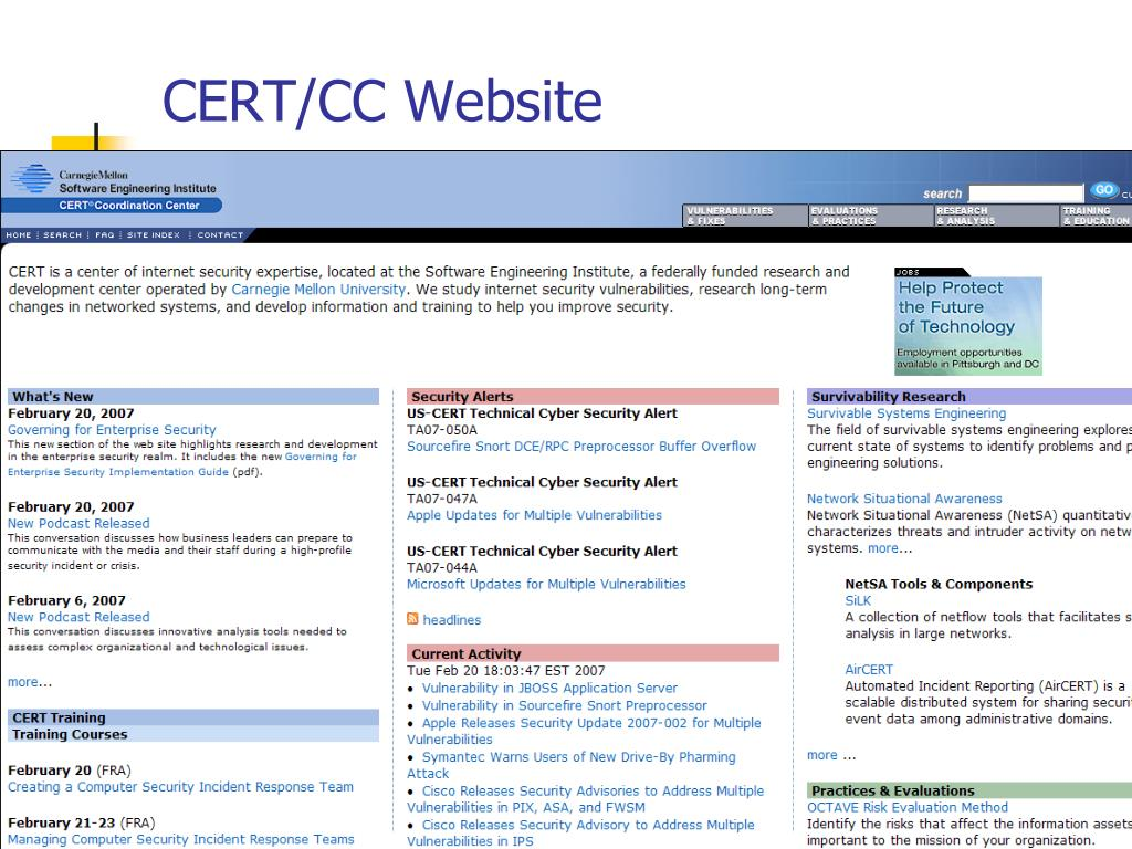 CERT/CC Website