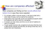 how are companies affected
