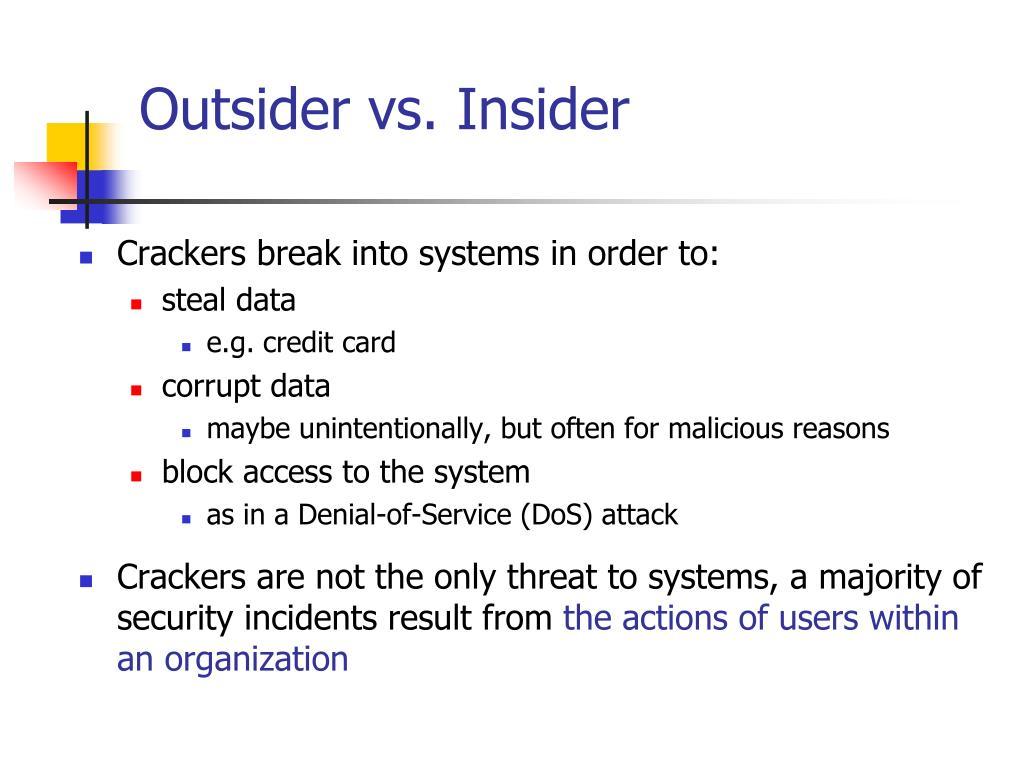 Outsider vs. Insider