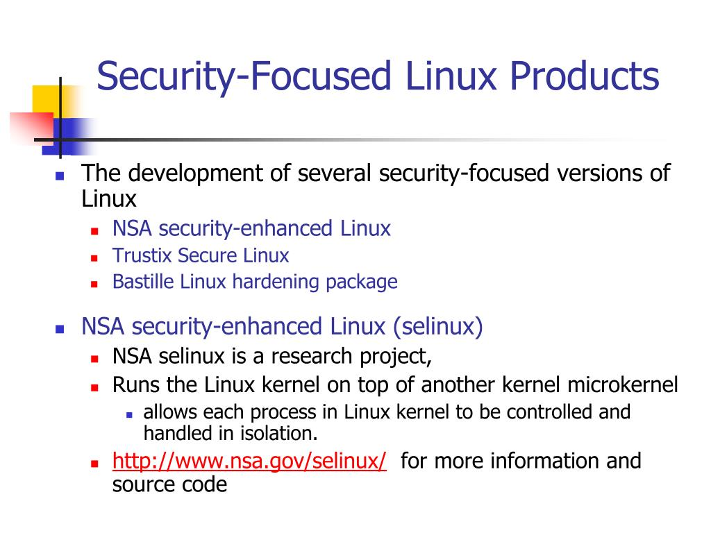 Security-Focused Linux Products