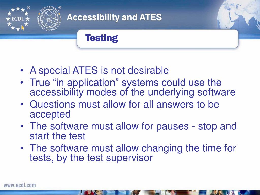 Accessibility and ATES