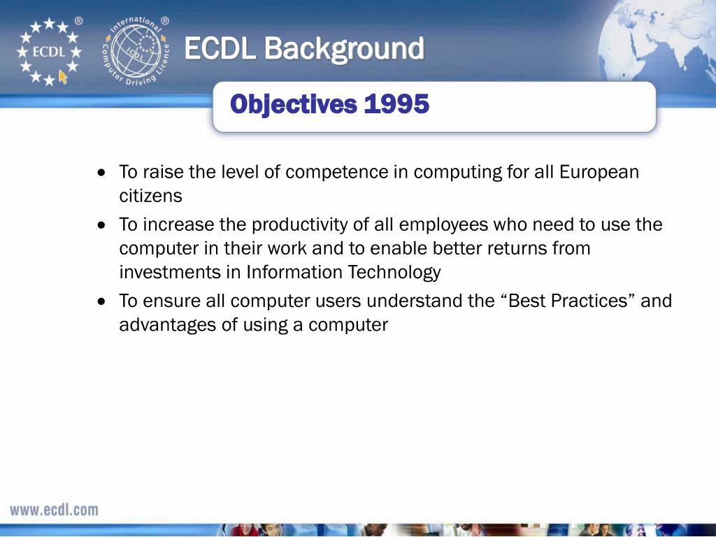 ECDL Background