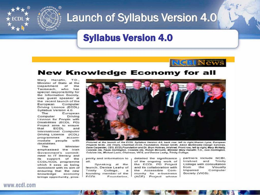 Launch of Syllabus Version 4.0