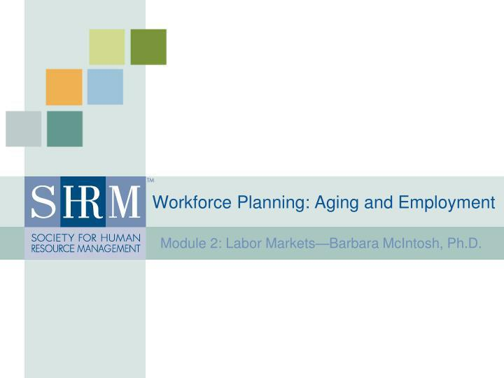 workforce planning aging and employment n.