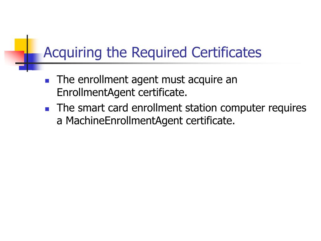 Acquiring the Required Certificates