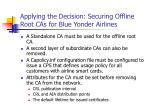 applying the decision securing offline root cas for blue yonder airlines